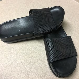 Frye Lily Perforated  leather slides